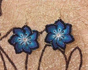 READY TO SHIP. Flower earrings. Handmade. Love