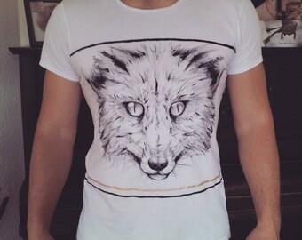 Handmade Fox Shirt , size M unisex