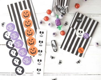 Halloween Treat Bags with Stickers