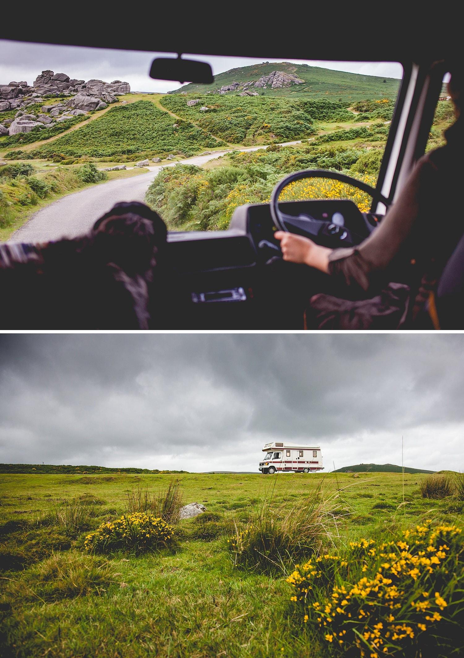Camper van adventure, on the road