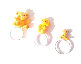 Ring GOLDILOCKS, and the three bears -- Multiple ring, miniature bears by The Sausage