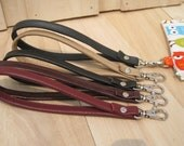 A clip on leather wrist strap, keychain, key holder handmade gift add to your pouch