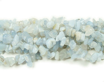Blue Lace Agate Chips Gemstone Beads