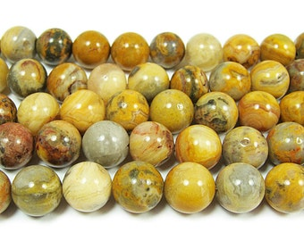 Crazy Lace Agate Round Gemstone Beads