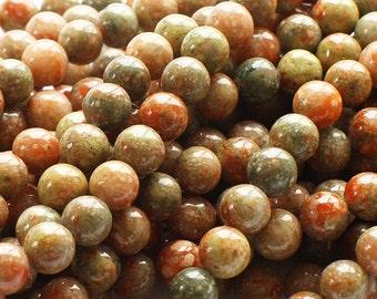 Pink Jasper Round Gemstone Beads