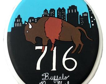 Buffalo Hand Painted Toilet Seat 716 Buffalove