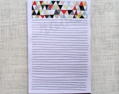 Printable Download Geometric stationery lined note paper PDF for download watercolor