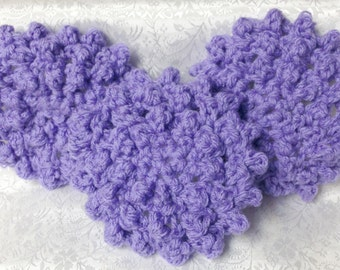Hand Crochet Lavender Face Scrubbies - Mini Washcloth - Set of 3