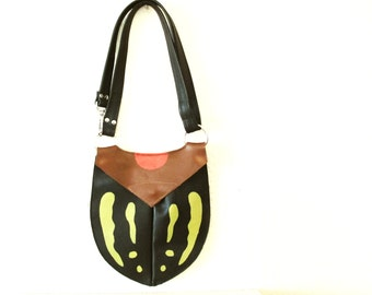 Bug Purse Leather Inspired by Beetles