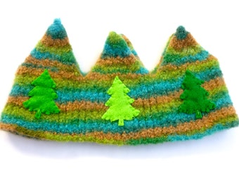 Felted Wool Crown Perfect for a birthday crown or just everyday dress-up play! Waldorf