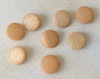 8 Vintage Iridescent Buttons