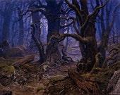 Fanghorn Forest-- mini batts (2 oz.) BFL, bamboo, silk, sparkle.