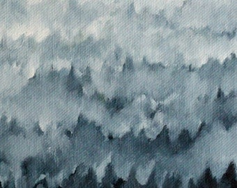 Forest in Fog print of original oil painting