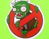 Plants Versus Zombies No Zombie Allowed Kyoto Junk Shop Vinyl Sticker