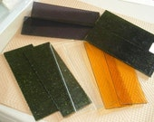 96COE Fusing Glass, Glass for Fusing, Spectrum System 96 Ten Strip Pieces, Willow Glass