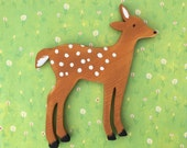 Fawn Wooden Rustic Shelf Decoration