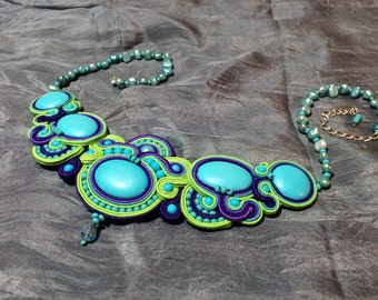 Psychadelic Limelight Necklace