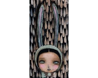 Bunny Tears - Giclee print reproduction of an original mixed media painting by Danita Art