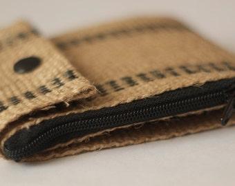 Vegan Wallet | Minimalist Wallet | Jute Wallet | Slim Wallet | Billfold Wallet | Unisex