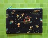 Pouch - Peter Pan / Zipper Pouch - Clutch - Coin Purse  - Zipper Bag