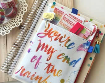Rainbow Pouch, Planner Pouch, Happy Planner Pouch, Planner Band, The Pocket Planner Pouch