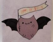 Batsy Bat Halloween Coaster