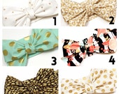 CHOOSE 3  PRINTS  - 24 to choose from -  Head wrap, Girls Headwrap, Baby Girls Headwrap, Headwrap, Girls Headband, Big Bow Headwrap, Photo