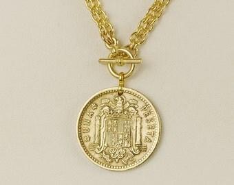 Spain Coin Necklace 1966 Peseta