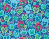 PANSIES in BLUE, Green,Red, Fall 2015 1/2 Yard PWGP076 Kaffe Fassett fabric Westminster Fabric / Cotton, Quilt Craft and Apparel fabric