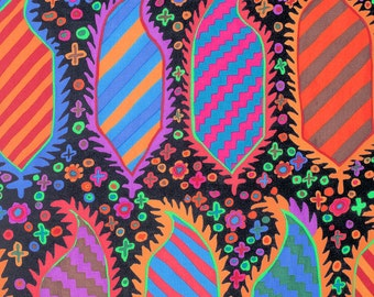 STRIPED HERALD in BLACK 1/2 yard of PWGP153 / Kaffe Fassett Fabric   / Westminster Fabric / Cotton, Quilt Craft and Apparel fabric