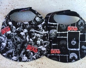 Set of 2 Walking Dead Zombie Infant Baby Bib