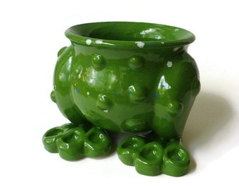 Ceramic Frog Planter Pot