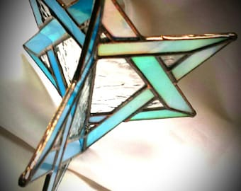 Star of David -3D Spinning Stained Glass Star