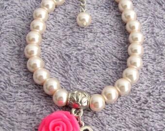Personalized  Flower Girl Bracelet Wedding Flower Girl Gift, kids Personalized bracelet Child Bracelet Personalized Flower Girl Gift Jewelry