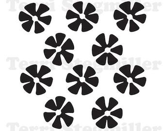 """Fans Blades 6x6"""" Stencil"""