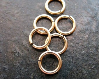 5mm 20 gauge Gold Filled Jump Rings - 6 pieces