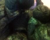 EMERALD CITY - 50/50 yak silk top hand-dyed