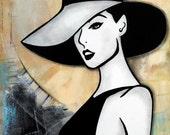 Abstract painting vogue original Modern pop Art Contemporary Hat by Fidostudio Pioro