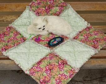 Cat Blanket, Cat Quilt, Dog Blanket, Dog Bed, Cat Bed, Handmade Pet Bed, Colorado Catnip Toys, Travel Pet Blanket, Crate Mat, Luxury Cat Bed