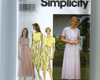 Simplicity Misses' Dress and Jacket Pattern 8507