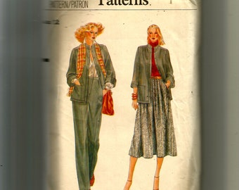 Vogue Misses' Jacket, Skirt and Pants Pattern 7211