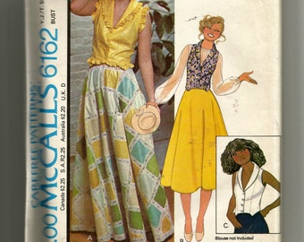 McCall's Young Junior/Teen Vest and Skirt Pattern 6162