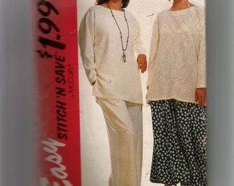 McCall's Misses' Top, Skirt and Pants Pattern 6829