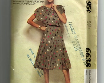 McCall's Misses' Dress Pattern 6638