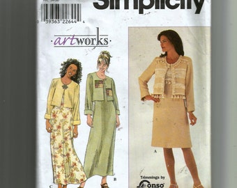 Simplicity Misses' Dress and Jacket Pattern 8579