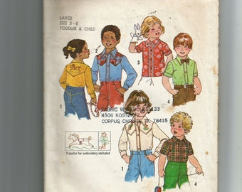 Simplicity Toddlers' and Child's Shirts Pattern 7685