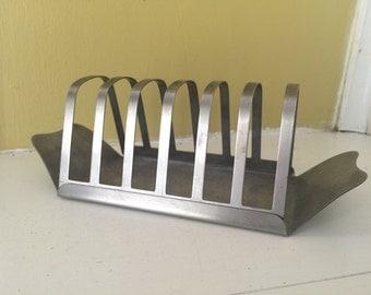 Mid Century Style Toast Holder // Stainless Steel 18/0 Hong Kong // English High Tea // Organizer