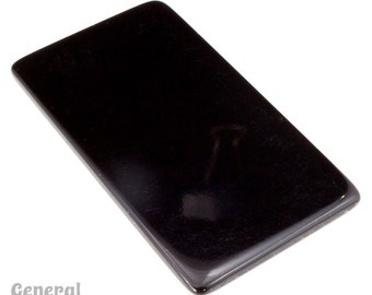 30mm x 60mm Black Rectangle Blank (4 Pcs) #4001