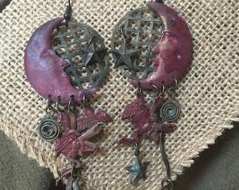 Moon Metal Earrings