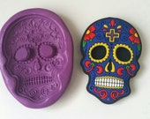SUGARSKULL 56 mm Silicone Mould - Highly Flexible - Sugarpaste, Fondant, Fimo, Icing, Clay, Gumpaste